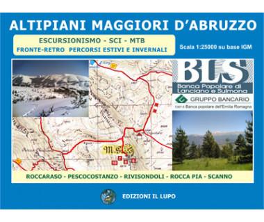 Altipiani Maggiori d'Abruzzo - Mapa