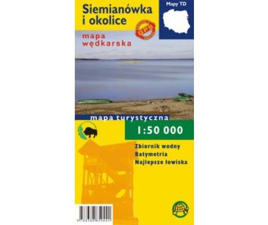 Siemianówka i okolice mapa laminowana