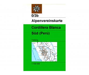 Cordillera Blanca Sud - Mapa turystyczna