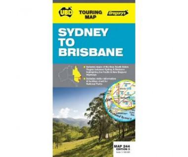 Sydney to Brisbane - Mapa
