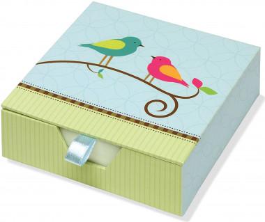 Karteczki zdobione Bird Song