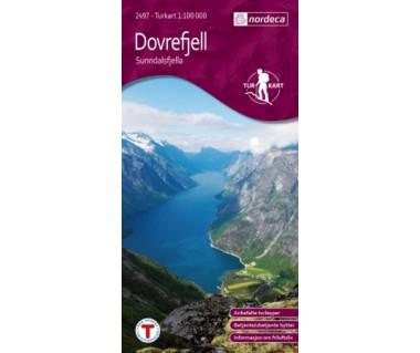 Dovrefjell Sunndalsfjella - Mapa