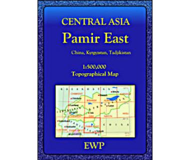 Central Asia Pamir East - Mapa