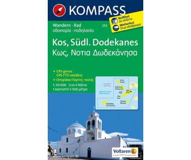 Kos, Sudl. Dodekanes (folia) - Mapa turystyczna