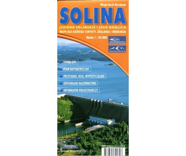 Solina. Jezioro Solińskie i jego okolica mapa foliowana
