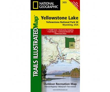 Yellowstone Lake (305) - Mapa wodoodporna