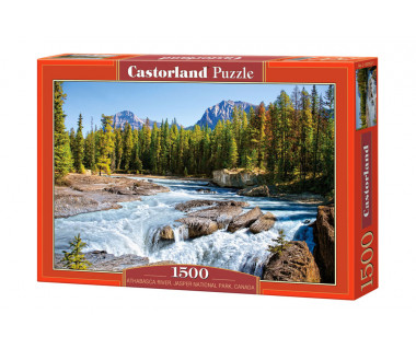 Puzzle 1500 Athabasca River, Jasper National Park, Canada.