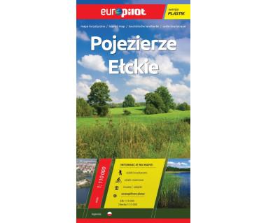 Pojezierze Ełckie (plastik) - Mapa
