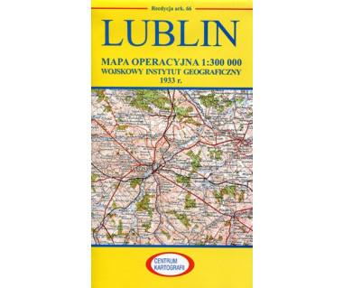Lublin mapa operacyjna ark. 66 reedycja WIG 1933 r.