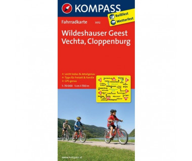 Wildeshauser Geest, Vechta, Cloppenburg - Mapa laminowana