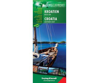 Kroatien Kuste Sud - Mapa