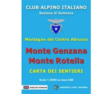 Monte Genzana, Monte Rotella - Mapa