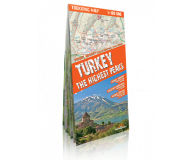 Turkey the Highest Peaks mapa laminowana
