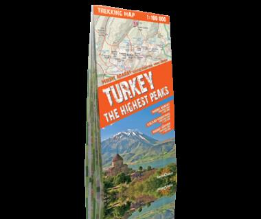 Turkey the Highest Peaks mapa laminowana