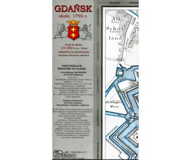 Gdańsk plan z około 1795 r. (reedycja)