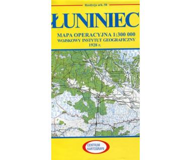 Łuniniec mapa operacyjna ark. 58 reedycja WIG 1928 r.