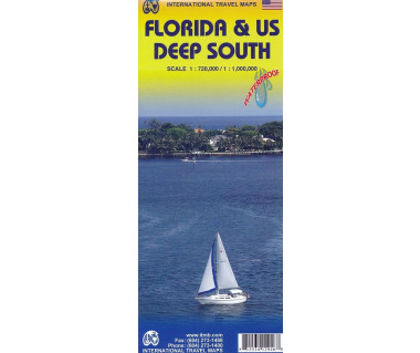 Florida & US Deep South - Mapa wodoodporna