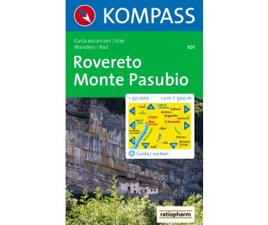 Rovereto, Monte Pasubio - Mapa turystyczna