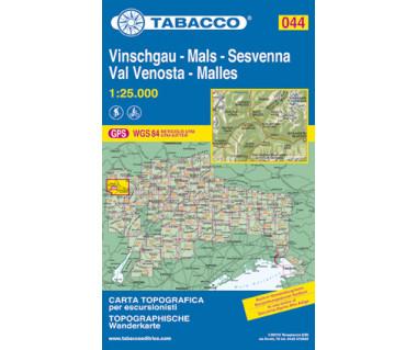 Val Venosta/Vinschgau, Sesvenna - Mapa turystyczna