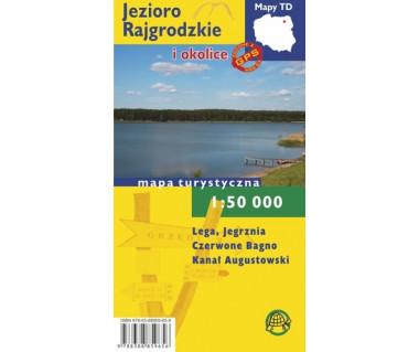 Jezioro Rajgrodzkie i okolice mapa foliowana