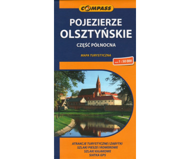 Pojezierze Olsztyńskie część północna - Mapa