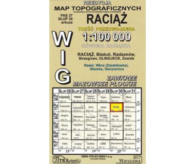 WIG 37/30 Raciąż (plansza) reedycja z 1935 r.