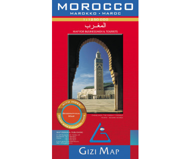 Morocco (geographical) - Mapa