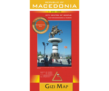 Republic of Macedonia (geographical) - Mapa