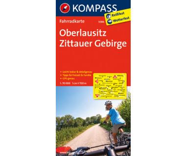 Oberlausitz, Zittauer Gebirge - Mapa rowerowa