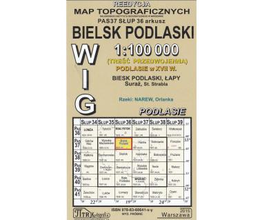 WIG 37/36 Bielsk Podlaski (plansza) reedycja z 1937 r.