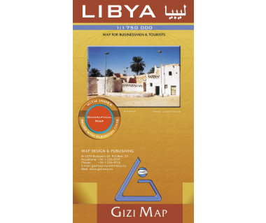 Libya (geographical) - Mapa