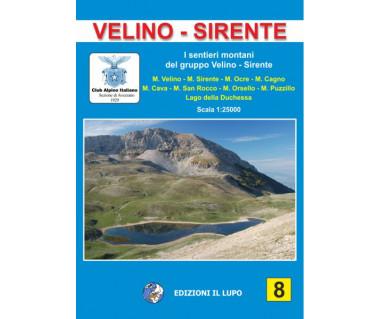 Velino - Sirente - Mapa