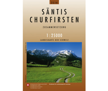 Santis, Churfirsten - Mapa turystyczna