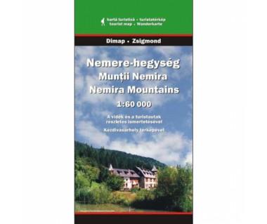 Muntii Nemira - Mapa turystyczna