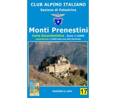 Monti Prenestini - Mapa