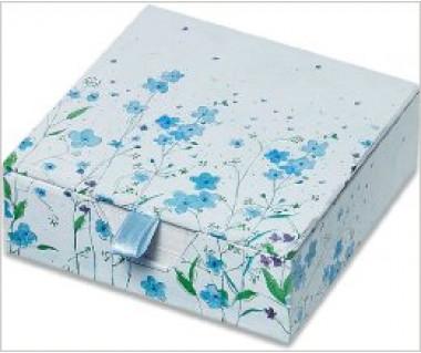 Karteczki zdobione Blue Flowers