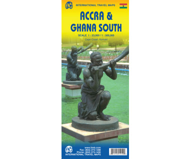 Accra & Ghana South - Mapa