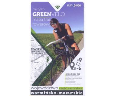 Green Velo mapa rowerowa Województwo Warmińsko-Mazurskie cz. zachodnia