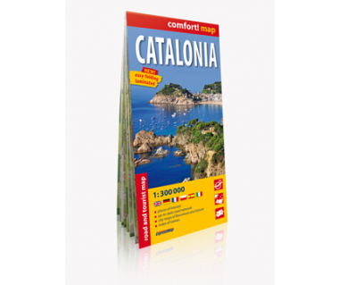 Catalonia mapa laminowana