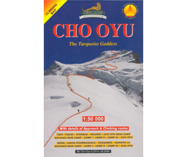 Cho Oyu - Mapa turystyczna