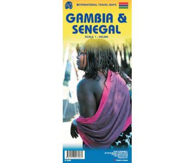 Senegal & Gambia - Mapa