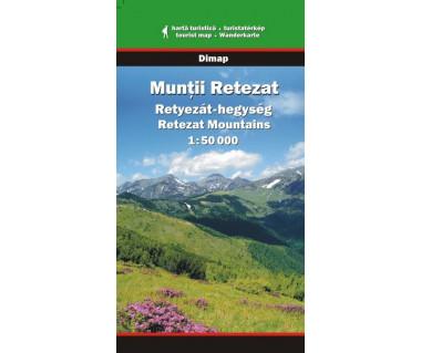 Muntii Retezat - Mapa turystyczna