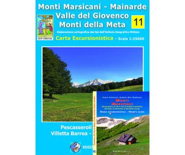 Monti Marsicani - Mainarde (+ przewodnik wł./ang.) - Mapa