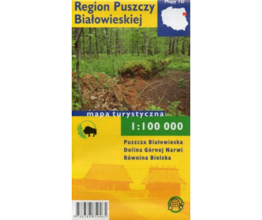 Region Puszczy Białowieskiej mapa foliowana