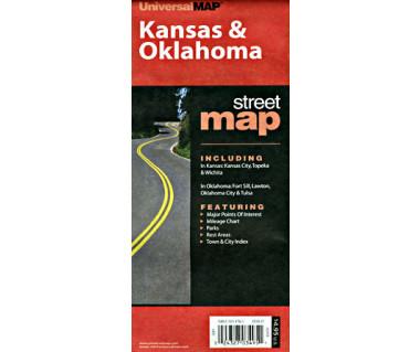 Kansas & Oklahoma - Mapa