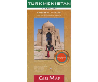 Turkmenistan (geographical) - Mapa