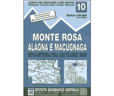 IGC50 10 Monte Rosa Alagna e Macugnaga - Mapa turystyczna