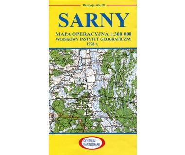 Sarny mapa operacyjna ark. 68 reedycja WIG 1928 r.