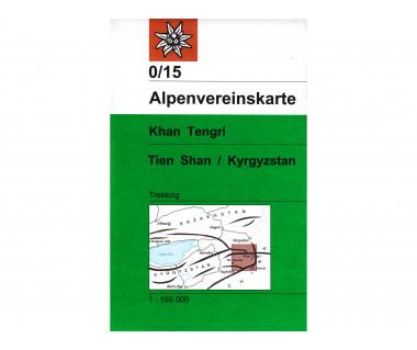 Tien Shan - Khan Tengri - Mapa turystyczna