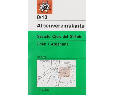 Nevado Ojos del Salado - Mapa turystyczna